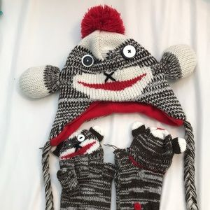 Accessories - A sock monkey hat and gloves